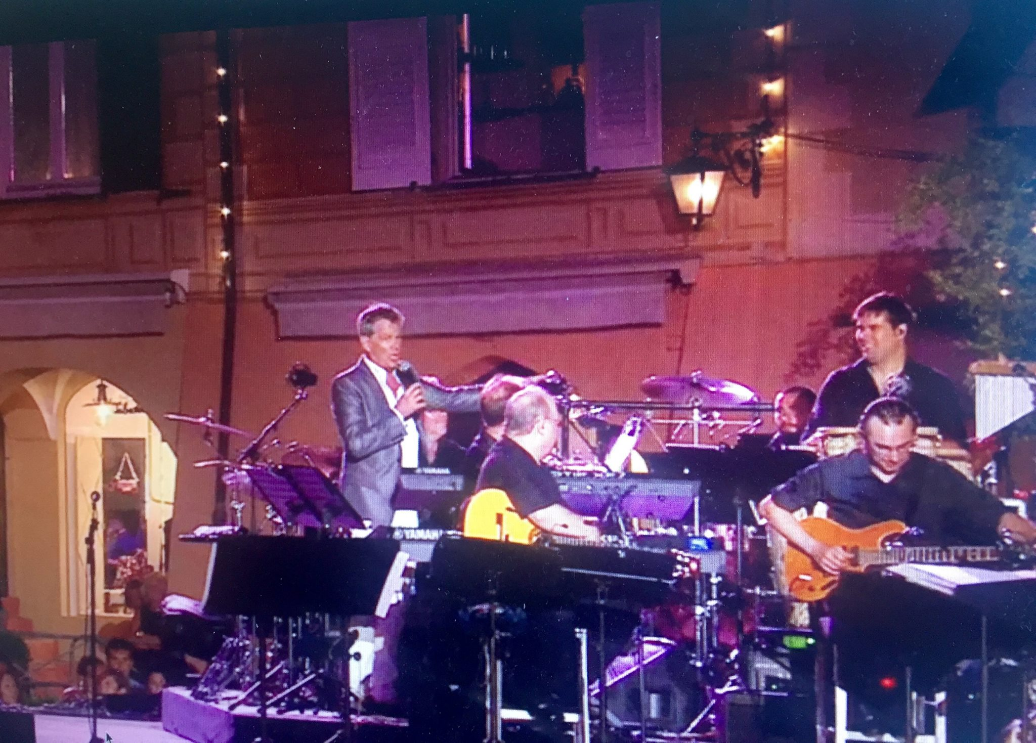 "With Andrea Boceli and David Foster in the DVD live recording of ""Love in Portofino"""